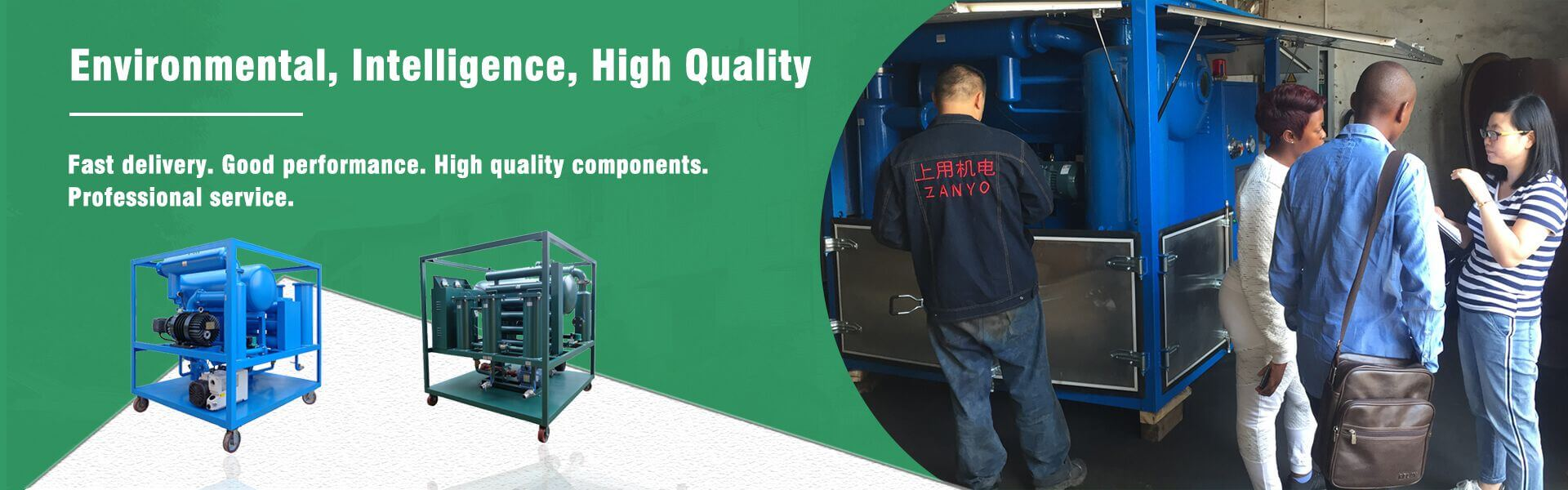 Environmental Intelligence High Quality Oil Purifier Banner 02
