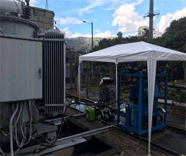 10 ZYS Single Stage Vacuum Transformer Oil Purifier Working Onsite