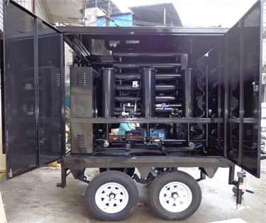 13 Mobile Double stages Vacuum Transformer Oil Purifier For Ecuador