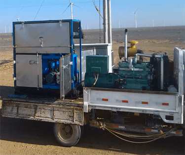 7 ZYD-II-100 Transformer Oil Purification System Working For Wind Power Station