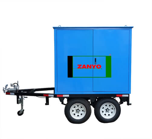 Transformer Oil Purifier with Double-axle Trailer-ZANYO-04