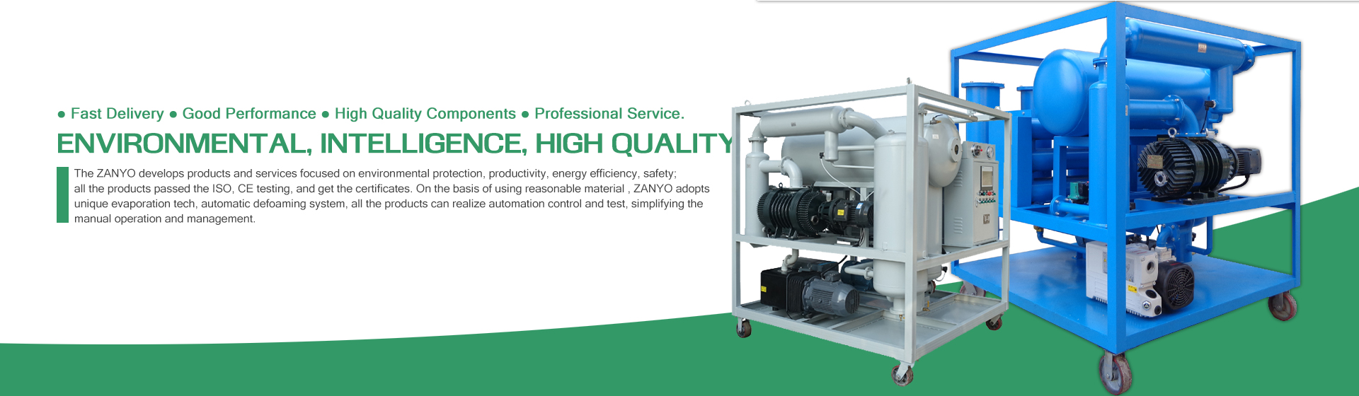 ZANYO Transformer Oil Purifier Banner 01