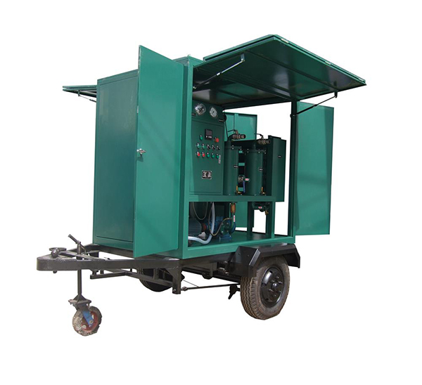 Insulation Oil Purification Machine with Single Axle Trailer 01 ZANYO
