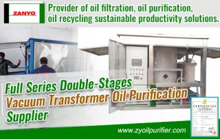 Full Series Double-Stages Vacuum Transformer Oil Purification Supplier ZANYO